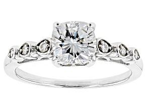 Moissanite Ring Platineve™ 2.06ctw DEW