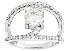 Moissanite Ring Platineve™ 1.68ctw DEW.