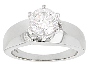 Moissanite Platineve Ring 1.90ct DEW