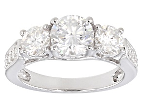 Moissanite Ring Platineve™ 2.35ctw DEW.