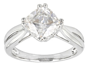 Moissanite Ring Platineve™ 2.40ct DEW.