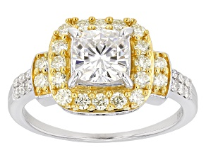 Moissanite And Yellow Diamond Ring Platineve™