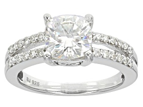 Moissanite Ring Platineve™ 2.24ctw DEW