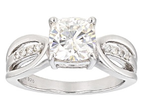 Moissanite Ring Platineve™ 2.08ctw DEW