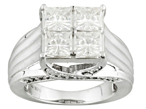 Moissanite Ring Platineve ™ 2.70ctw DEW
