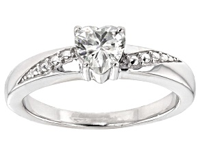 Moissanite Ring Platineve™ .60ctw DEW