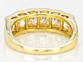 Moissanite 14k Yellow Gold Over Silver Ring 1.98ctw DEW