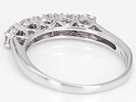 Moissanite Ring Platineve™ 1.15ctw DEW