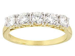 Moissanite Ring 14k Yellow Gold Over Sterling Silver 1.15ctw DEW