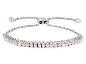 Moissanite Adjustable Bracelet Platineve™ 1.35ctw DEW