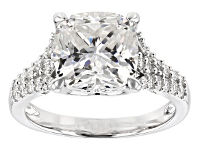 Moissanite Ring Platineve™ 5.58ctw DEW