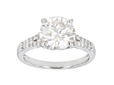 Moissanite Ring Platineve™ 3.87ctw DEW