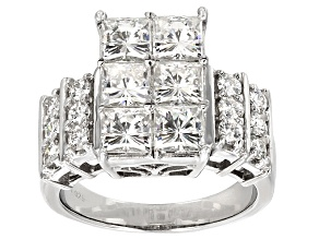 Moissanite Ring Platineve™ 4.20ctw DEW