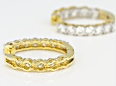 Moissanite Earrings 14k Yellow Gold Over Silver 3.84ctw DEW