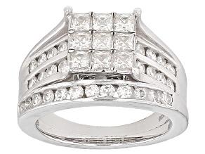 Moissanite Ring Platineve™ 1.38ctw DEW