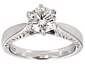 Moissanite Ring Platineve™ 1.20ct DEW