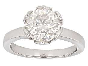 Moissanite Ring Platineve™ 2.20ct DEW