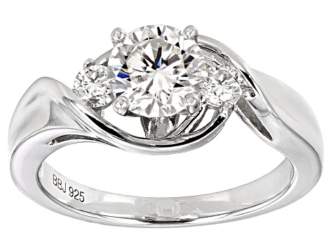 Moissanite Ring Platineve™ 1.20ctw DEW