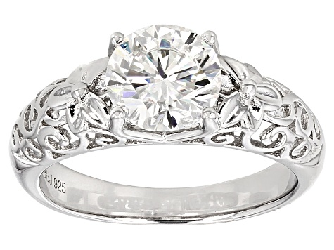 Moissanite Ring Platineve™ 1.90ct DEW