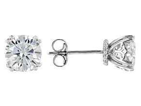 Moissanite Stud Earrings Platineve 2.40ct DEW