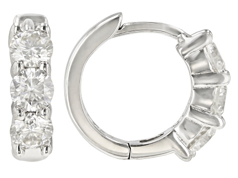 Moissanite Platineve Earrings .96ctw D.E.W