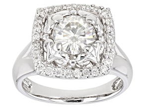 Moissanite Ring Platineve™ 1.48ctw DEW