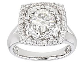Moissanite Ring Platineve™ 1.48ctw DEW