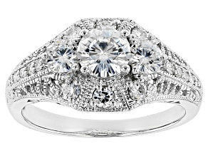 Moissanite Ring Platineve™ 1.52ctw DEW