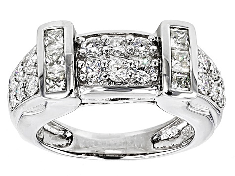 Moissanite Ring Platineve™ 1.44ctw DEW