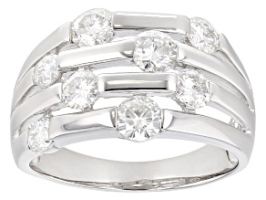 Moissanite  Platineve Ring 2.00ctw DEW