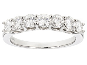 Moissanite Ring Platineve™ 1.12ctw DEW