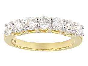 Moissanite Ring 14k Yellow Gold Over Silver 1.12ctw DEW