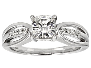 Moissanite Ring Platineve™ 1.38ctw DEW.