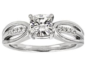 Moissanite Ring Platineve™ 1.38ctw DEW.