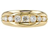 Moissanite 14k Yellow Gold Over Silver Ring 1.12ctw DEW