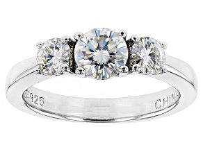 Moissanite Ring Platineve® 1.06ctw DEW