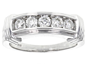 Moissanite Ring Platineve™ .65ctw DEW.