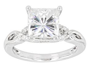 Moissanite Ring Platineve™ 3.20ctw DEW