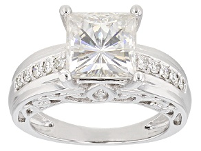 Moissanite Ring Platineve™ 3.34ctw DEW