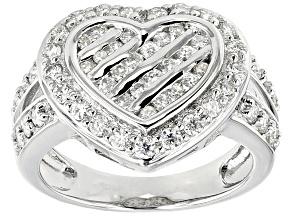 Moissanite Ring Platineve™ 1.03ctw DEW