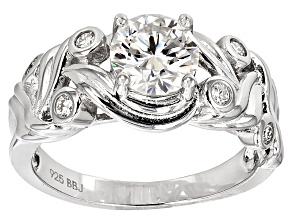 Moissanite Ring Platineve™ 1.68ctw DEW