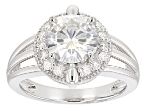 Moissanite Ring Platineve™ 2.48ctw DEW