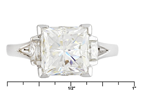 Moissanite Ring Platineve™ 4.48ctw DEW