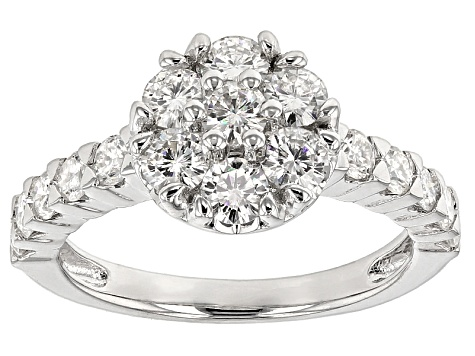 Moissanite Ring Platineve™ 1.51ctw DEW