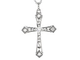 Moissanite Cross Pendant Platineve™ .57ctw DEW