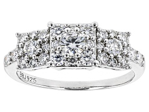 Moissanite Ring Platineve™ 1.27ctw DEW