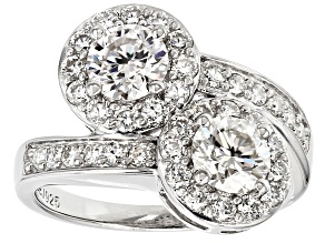 Moissanite Ring Platineve™ 2.68ctw DEW