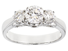 Moissanite Platineve Ring 1.26ctw DEW