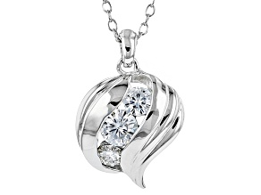 Moissanite Platineve Necklace.62ctw DEW