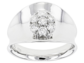 Moissanite Platineve Ring .70ctw DEW